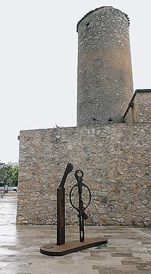 La forja. Acero corten. Molino de Amengual en Porreres, 2004