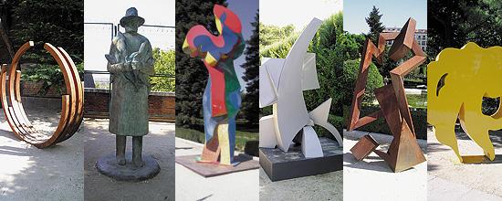 Escultura Pública Contemporánea en los Jardines de Sabatini, Madrid