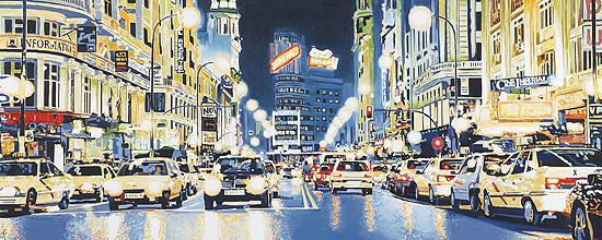 «El sueño de un americano en Madrid» 150 x 150 cm