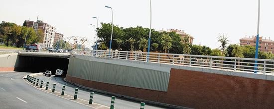 Alumbrado de la avenida Carlos III en Córdoba