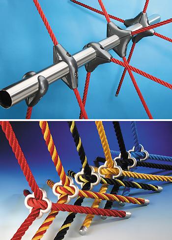 Juegos infantiles con redes de cuerda