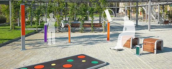 Conjunto de elementos que componen un parque OUTDOOR