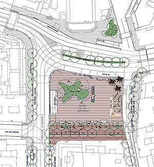 Plano de la plaza de Bonanova