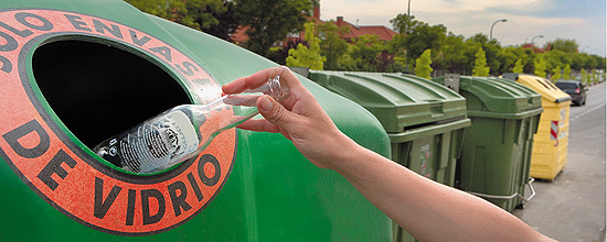 Los españoles reciclamos el 60 por ciento de los envases de vidrio