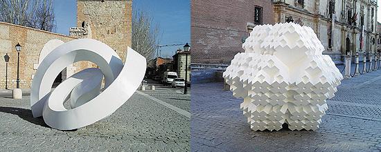 """El escultor Enrique Carvajal, """"Sebastián"""", en Alcalá de Henares"""