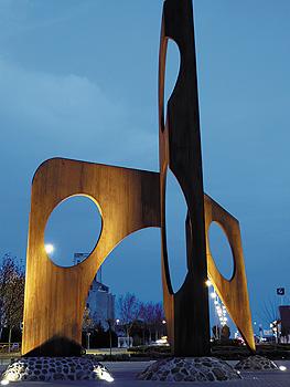 Escultura Rayo en Ciudad Real