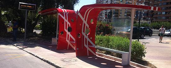 Marquesina de autobús. UTE Transporte de Murcia