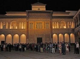 Iluminación del Alcázar de Sevilla.