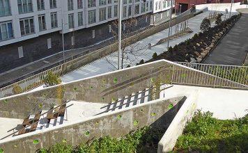 Urbanización y ajardinamiento de espacios libres en el barrio Novo Mesoiro (A Coruña)