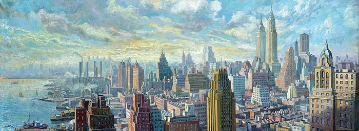 Manhattan. 250x120 cm. Óleo sobre lienzo