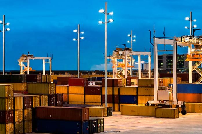Iluminación del puerto de Rotterdam