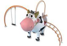 Juego lúdico con forma de vaca