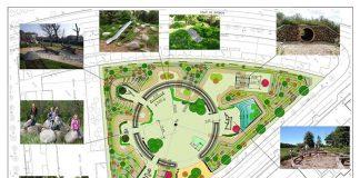 Zona de juegos integrados en la naturaleza en Vitoria-Gasteiz