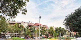Reordenación de espacio verde entre Avenida Mónaco y Calle de Verdi en Badalona