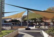 Estructuras de sombras para parques y plazas en Cornella de Llobregat