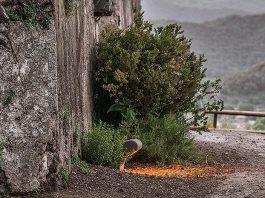 Roura ilumina el volcán Montsacopa de Olot con la baliza IMON