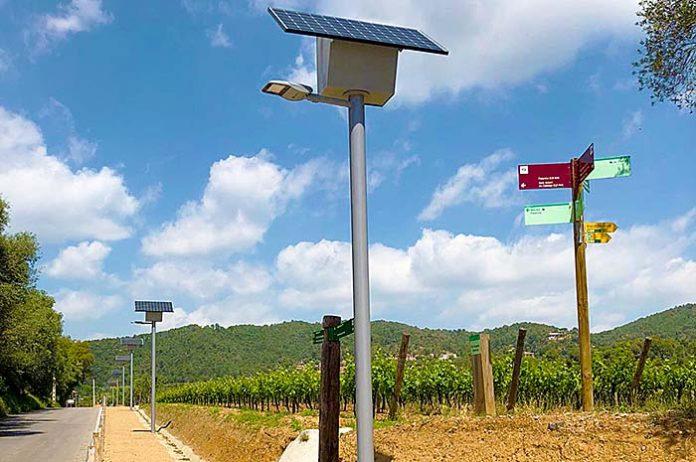 Punto de luz autónomo Solar Diba de Novatilu