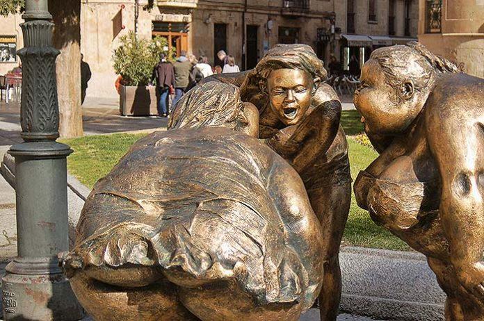 Esculturas de Xu Hongfei en Salamanca