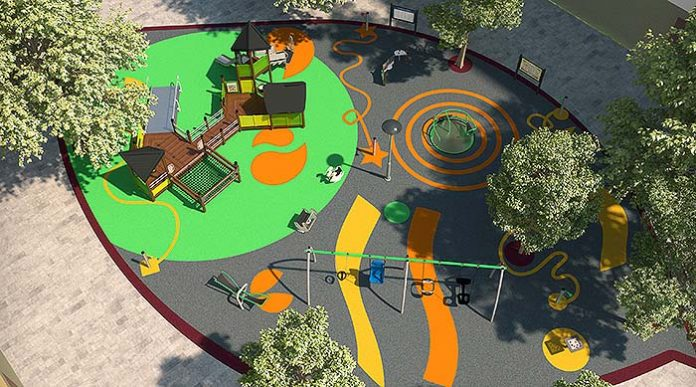 Parque infantil situado en la plaza Gallart i Monés (El Prat de Llobregat)