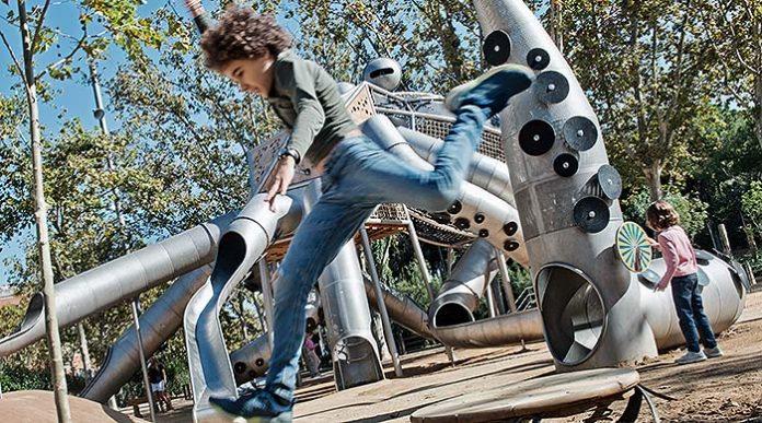 Pulpo jugable del Parque de la Pegaso