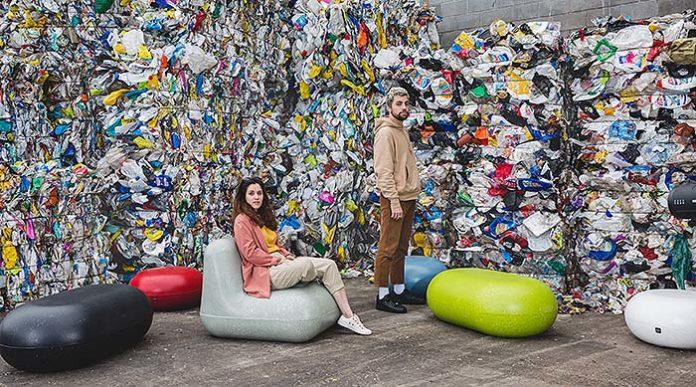 Mobiliario urbano en plástico reciclado de Durbanis