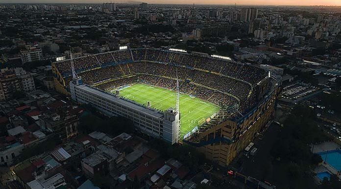 Estadio de fútbol Boca Juniors en Buenos Aires