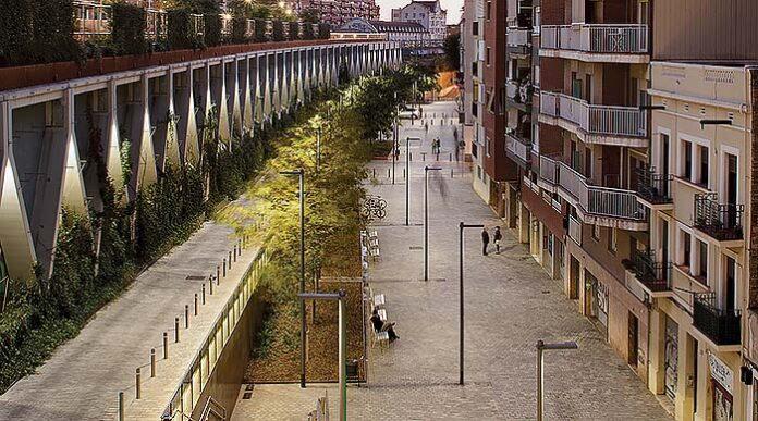 Jardines de la Rambla de Sants, Barcelona, España