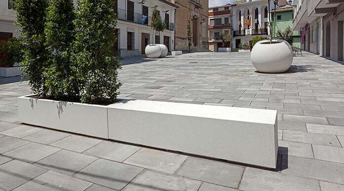 Elementos prefabricados de hormigón para espacios urbanos